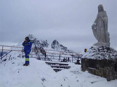 標高1600メートルにある平和の聖母像