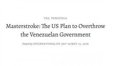 マスターストローク:米国のベネズエラ政府転覆計画の写真