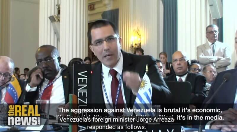 米国、米州機構からのベネズエラ追放に失敗の写真
