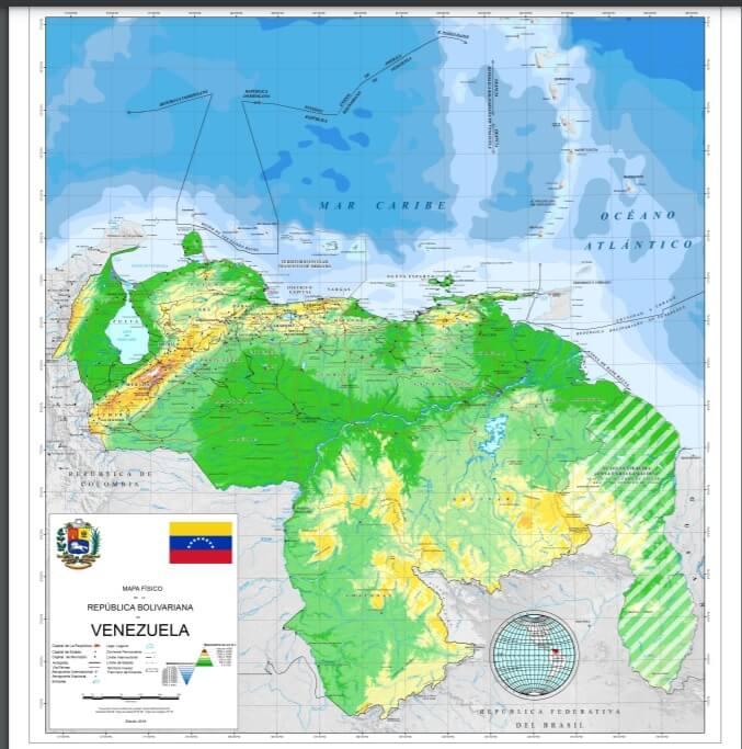ベネズエラの地図:グアヤナ・エセキバ地域の写真